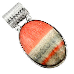 925 sterling silver 22.30cts natural orange celestobarite pendant jewelry r32060