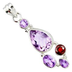 925 sterling silver 10.70cts natural pink amethyst garnet pendant jewelry r20369