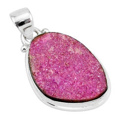 925 sterling silver 13.70cts natural pink cobalt calcite pendant jewelry r92944