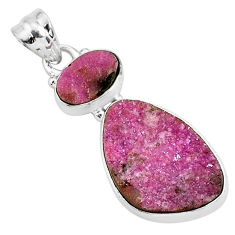 925 sterling silver 15.08cts natural pink cobalt calcite pendant jewelry r93004