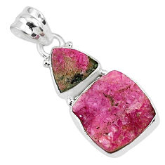 925 sterling silver 13.17cts natural pink cobalt calcite pendant jewelry r93017