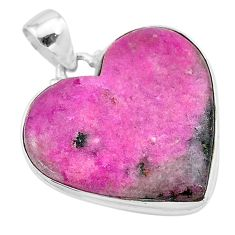 925 sterling silver 22.02cts natural pink cobalt calcite pendant jewelry t13460