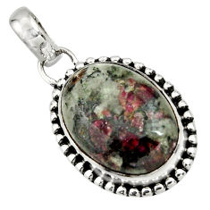 925 sterling silver 14.23cts natural pink eudialyte pendant jewelry r26511