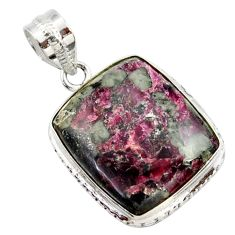925 sterling silver 18.15cts natural pink eudialyte pendant jewelry r27973