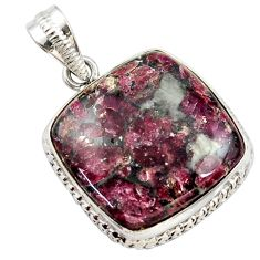 925 sterling silver 20.07cts natural pink eudialyte pendant jewelry r27977