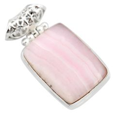 925 sterling silver 26.16cts natural pink lace agate pendant jewelry d42072