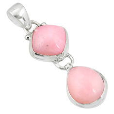 925 sterling silver 10.31cts natural pink opal cushion pendant jewelry r20760