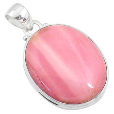 925 sterling silver 15.58cts natural pink opal oval pendant jewelry r66208