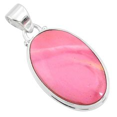 925 sterling silver 13.15cts natural pink opal oval pendant jewelry r66212