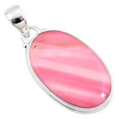 925 sterling silver 12.58cts natural pink opal oval pendant jewelry r66256