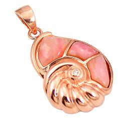 925 sterling silver natural pink opal topaz 14k rose gold pendant a76172 c15005