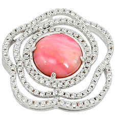 925 sterling silver natural pink opal topaz pendant jewelry a59264 c14045