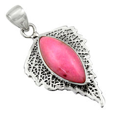 925 sterling silver 14.90cts natural pink petalite pendant jewelry r39160