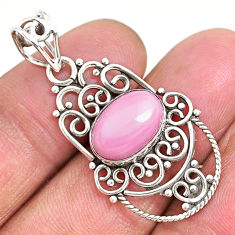 925 sterling silver 4.03cts natural pink queen conch shell pendant r94010