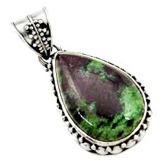 925 sterling silver 18.46cts natural pink ruby zoisite pendant jewelry d43191