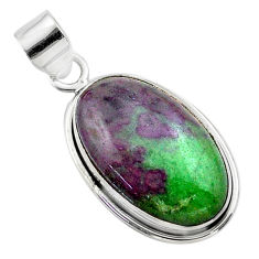 925 sterling silver 18.15cts natural pink ruby zoisite pendant jewelry t44767