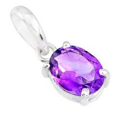 925 sterling silver 2.60cts natural purple amethyst oval pendant jewelry r83707