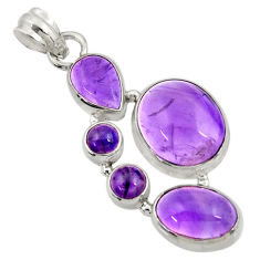 925 sterling silver 16.17cts natural purple amethyst pendant jewelry d43609