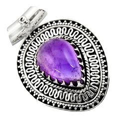 925 sterling silver 11.56cts natural purple amethyst pendant jewelry d45013
