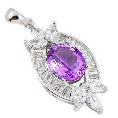 925 sterling silver natural purple amethyst topaz pendant jewelry c18141