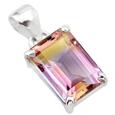 925 sterling silver 5.98cts natural purple ametrine octagan pendant t24312