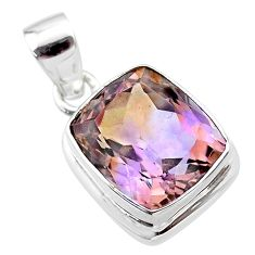 925 sterling silver 7.76cts natural purple ametrine octagan pendant t45151