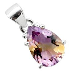 925 sterling silver 6.69cts natural purple ametrine pear pendant jewelry t50178