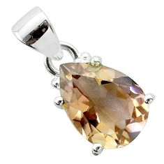 925 sterling silver 6.31cts natural purple ametrine pear pendant jewelry t50195
