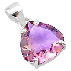 925 sterling silver 8.69cts natural purple ametrine pendant jewelry t24308