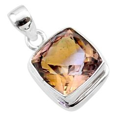 925 sterling silver 14.08cts natural purple ametrine pendant jewelry t45170