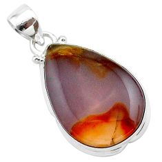 925 sterling silver 14.18cts natural purple grape chalcedony pear pendant t22913
