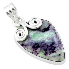 925 sterling silver 15.08cts natural purple kammererite pendant jewelry t22824