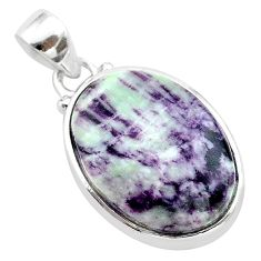 925 sterling silver 15.02cts natural purple kammererite pendant jewelry t22835