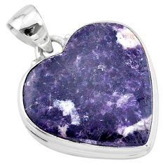 925 sterling silver 20.65cts natural purple lepidolite pendant jewelry t13267
