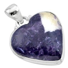 925 sterling silver 18.15cts natural purple lepidolite pendant jewelry t13270