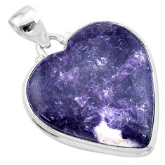 925 sterling silver 20.72cts natural purple lepidolite pendant jewelry t13276