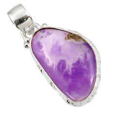 Clearance Sale- 925 sterling silver 11.73cts natural purple opal pendant jewelry d44096
