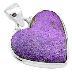 925 sterling silver 12.22cts natural purple stichtite pendant jewelry t13395