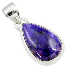 925 sterling silver 10.73cts natural purple sugilite pear pendant jewelry r36397