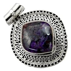 Clearance Sale- 925 sterling silver 16.81cts natural purple sugilite pendant jewelry d45054