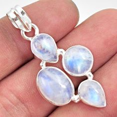 925 sterling silver 13.76cts natural rainbow moonstone pendant jewelry d43395