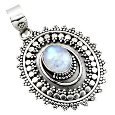 925 sterling silver 4.25cts natural rainbow moonstone pendant jewelry r47086