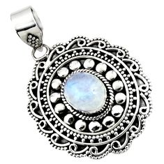925 sterling silver 4.08cts natural rainbow moonstone pendant jewelry r47090
