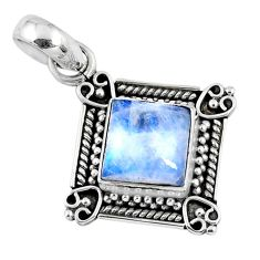 925 sterling silver 3.27cts natural rainbow moonstone pendant jewelry r57659