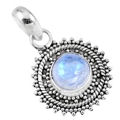 925 sterling silver 3.29cts natural rainbow moonstone pendant jewelry r57677