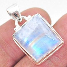 925 sterling silver 12.36cts natural rainbow moonstone pendant jewelry t23744