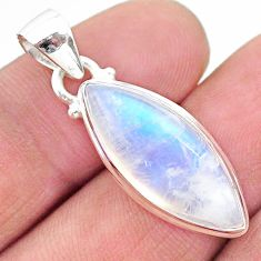 925 sterling silver 12.10cts natural rainbow moonstone pendant jewelry t23803