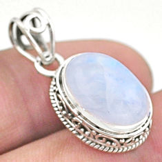 925 sterling silver 6.47cts natural rainbow moonstone pendant jewelry t46752