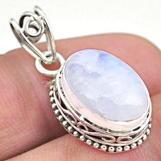 925 sterling silver 6.26cts natural rainbow moonstone pendant jewelry t46759