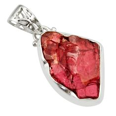 925 sterling silver 13.70cts natural red garnet rough fancy pendant r29844